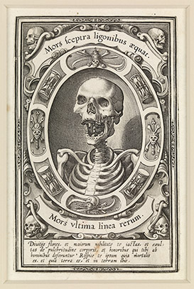 Mors ultima linea rerum (Death, the final boundary of things), Unknown artist, copperplate print, c.1570